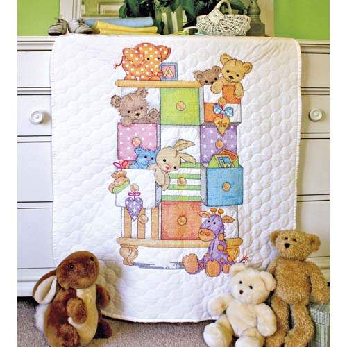 Baby Drawers Baby Quilt By Dimensions Cross Stitch Kits Patterns