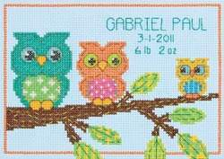 Owl Birth Record - Dimensions Pattern