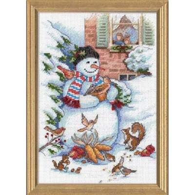 Snowman And Friends By Dimensions Cross Stitch Kits