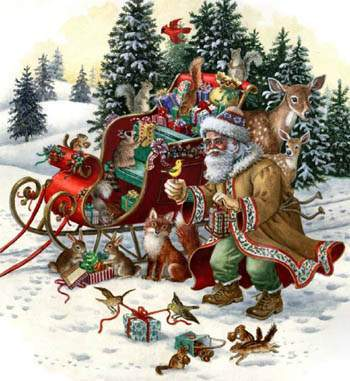 Woodland Santa By Heaven And Earth Designs Cross Stitch