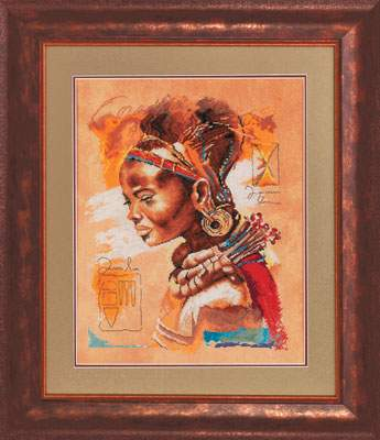 African Woman By Lanarte Cross Stitch Kits Amp Patterns