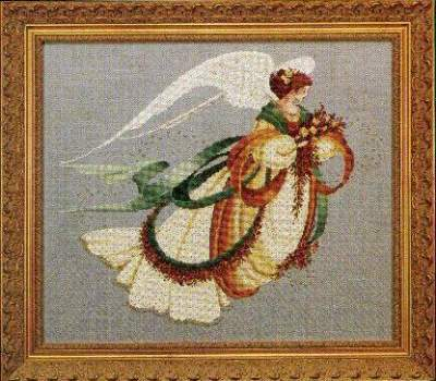 Angel Of Autumn By Lavender And Lace Cross Stitch Kits