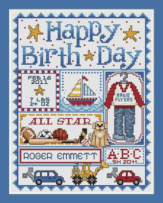 Happy Birthday For Boys By Sue Hillis Designs Cross