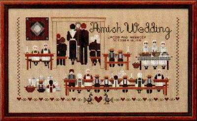 Amish Wedding By Told In A Garden Cross Stitch Kits