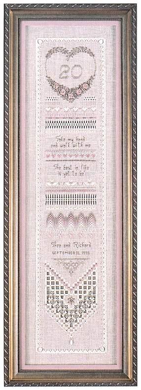 Heirloom Anniversary Sampler By Victoria Sampler Cross