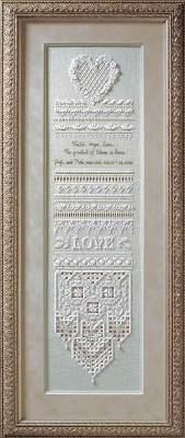 heirloom victorian cross stitch wedding samplers