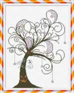 Halloween Tree - Cross Stitch Pattern