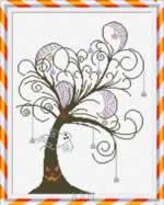 Halloween Tree - Cross Stitch Pattern