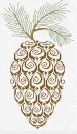 Pine Cone - Cross Stitch Pattern