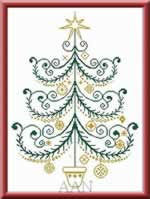 Christmas Tree 43 - Cross Stitch Pattern