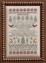 Poinsettias and Pines - Cross Stitch Pattern