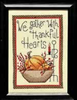 We Gather with Thankful Hearts - Cross Stitch Pattern