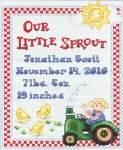 On the Farm Birth Record - Cross Stitch