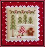 Gingerbread Girl and Peppermint Tree - Cross Stitch Pattern