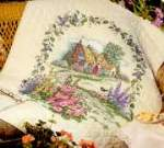 Hollyhock Cottage Quilt - Cross Stitch Pattern