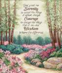 Serenity, Courage, and Wisdom - Cross Stitch