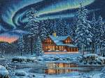Aurora Cabin - Cross Stitch Pattern
