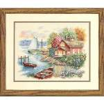 Peaceful Lake House - Cross Stitch Pattern