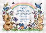 Gods Babies Birth Record - Cross Stitch Pattern