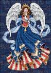 Patriotic Angel - Cross Stitch Pattern