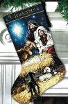 Holy Night Stocking - Cross Stitch Pattern