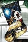 Holy Night Stocking - Cross Stitch Pattern