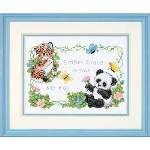 Baby Animals Birth Record - Cross Stitch