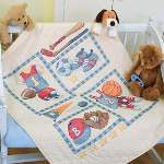 Little Sports Quilt - Cross Stitch Pattern