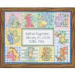 Zoo Alphabet Birth Record - Cross Stitch