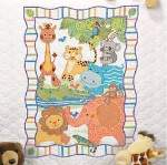 ModZoo Baby Quilt - Cross Stitch Pattern