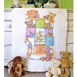 Baby Drawers Baby Quilt - Cross Stitch