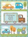 Happi Transport Birth Record - Cross Stitch