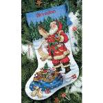 Checking His List Stocking - Cross Stitch Pattern