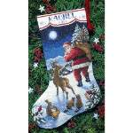 Santas Arrival Stocking - Cross Stitch Pattern