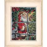 Candy Cane Santa - Cross Stitch Pattern