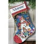 Cute Carolers Stocking - Cross Stitch Pattern
