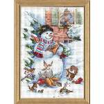 Snowman and Friends - Cross Stitch Pattern