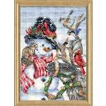 Snowman and Reindeer - Cross Stitch Pattern