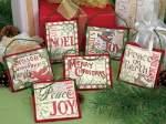 Christmas Sayings Ornaments - Cross Stitch
