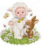 Lamb Baby - Cross Stitch Pattern