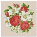 Roses and Lillies - Cross Stitch Pattern