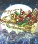 Santas Sleigh - Cross Stitch Pattern