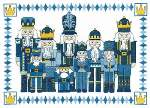 Nutcrackers in Blue - Cross Stitch Pattern