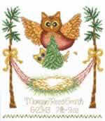 Baby Owl Birth - Cross Stitch