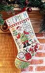 Santa Stuff Stocking - Cross Stitch Pattern