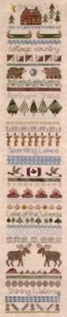 Northern Shield Sampler - Cross Stitch