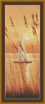 At Last Sailboat - Cross Stitch Pattern