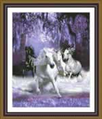 Horses in the Night - Cross Stitch Pattern