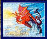 Red Dragon - Cross Stitch Pattern