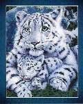 White Tigress and Cub - Cross Stitch Pattern
